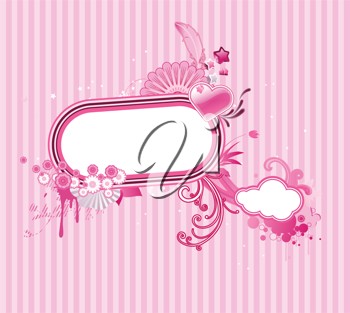 Royalty Free Clipart Image of a Pink Frame