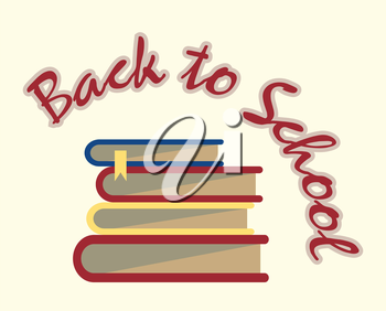 books back to school sign vector background illustration