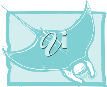 Royalty Free Clipart Image of a Manta Ray