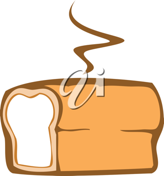 Royalty Free Clipart Image of a Loaf of Bread