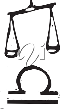 Royalty Free Clipart Image of a Libra Zodiac Sign