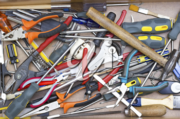 Royalty Free Photo of a Bunch of Tools