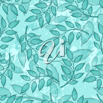 Seamless Abstract Colorful Pattern With Leaves