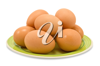Royalty Free Photo of a Plate of Eggs