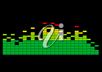Equalizer showing spectral structure of a spectrum