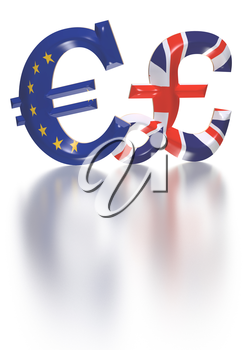 International economy currency units pound and euro