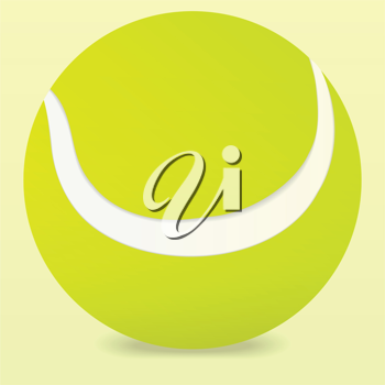 Royalty Free Clipart Image of a  Tennis Ball