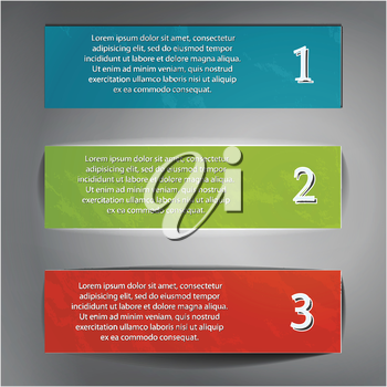 Color choise paper cards with advertising text