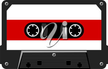 Royalty Free Clipart Image of an Audio Cassette
