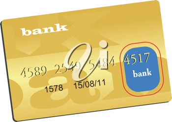 Royalty Free Clipart Image of a Cartoon Drawing of a Credit Card