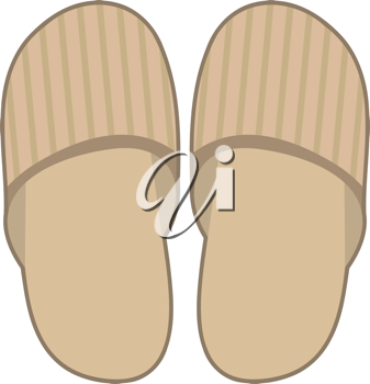 Royalty Free Clipart Image of a Pair of Slippers