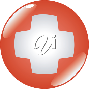 button in colours of Switzerland
