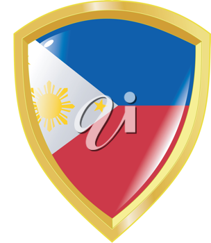 Coat of arms in national colours of Philippines