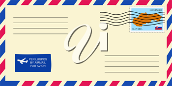 letter to/from Slovakia