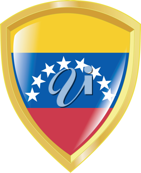 Coat of arms in national colours of Venezuela