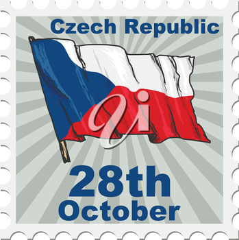 post stamp of national day of Czech Republic