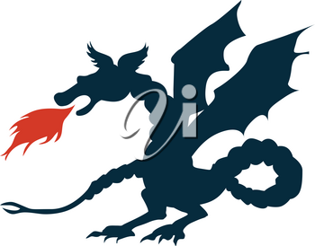 silhouette of dragon
