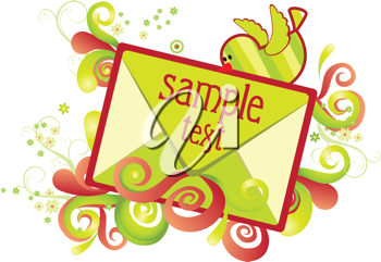 Royalty Free Clipart Image of a Holiday Card Template