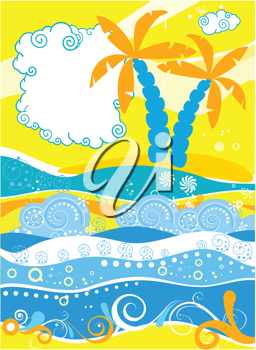 Royalty Free Clipart Image of an Abstract Palm Tree Background
