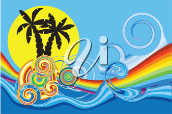 Royalty Free Clipart Image of an Abstract Beach Background