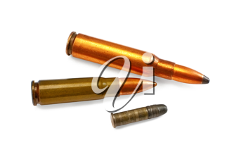 Royalty Free Clipart Image of Cartridges for Weapons