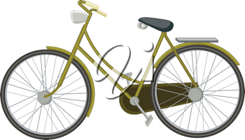 Royalty Free Clipart Image of a Two-Wheel Bicycle