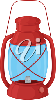 Illustration of a camping lantern on white