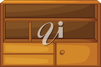 Illustration of isolated piece of furniture