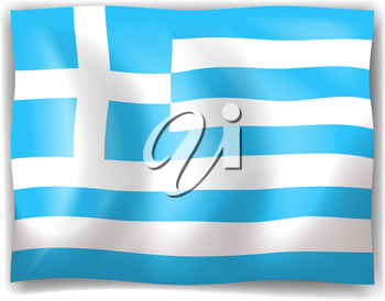Illustration of the flag of Greece on a white background