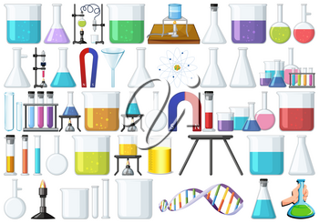 Set of lab tools illustration