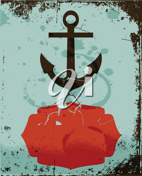 Royalty Free Clipart Image of an Anchor Background