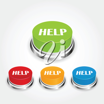Royalty Free Clipart Image of Help Buttons