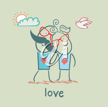 girl and boy in love