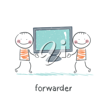 freight forwarder has a TV