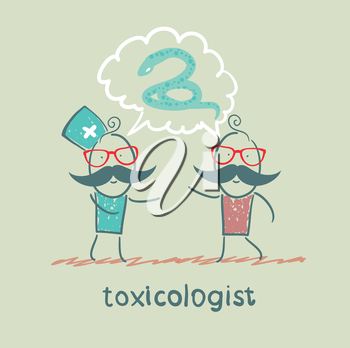 toxicologist says the snake with the patient