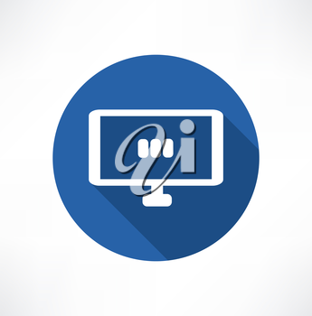 media set in the monitor icon