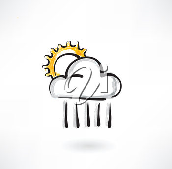 the cloud and the sun grunge icon