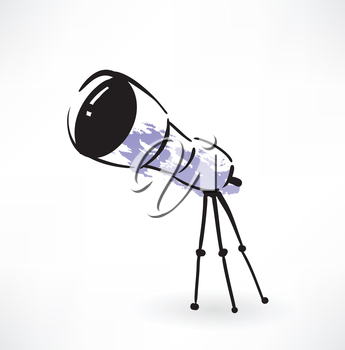 telescope grunge icon