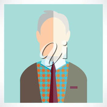 old man Flat icons collection