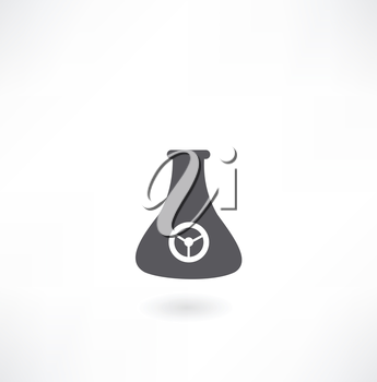 vial with a label icon