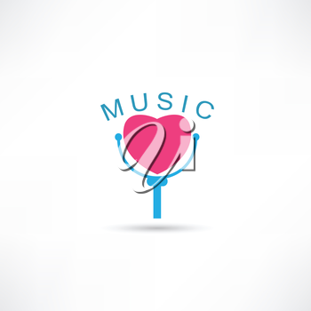 Love microphone icon