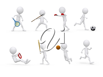 Royalty Free Clipart Image of Sports Figures