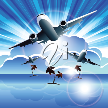 Royalty Free Clipart Image of an Airplan