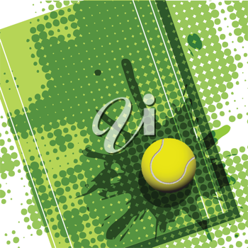 Royalty Free Clipart Image of an Abstract Tennis Background