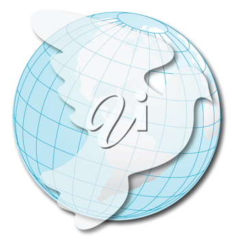 Royalty Free Clipart Image of a Dove and Globe