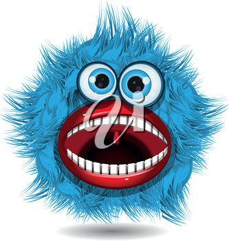 Royalty Free Clipart Image of a Monster