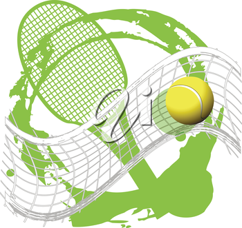 Royalty Free Clipart Image of a Tennis Ball Background