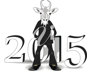 abstract illustration of a goat symbol of the new year