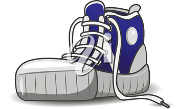 Illustration of sports shoes running shoes on a white background