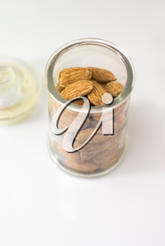 Royalty Free Photo of a Jar of Almonds